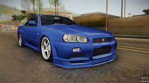 nissan r34 paul walker nissan skyline for gta san andreas