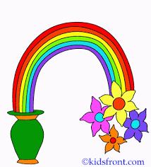colour rainbow coloring pages kids color print