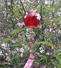 glass japan furin blown glass wind bell hanging windchime for