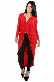 women deep v neck twist asymmetric high low casual long top