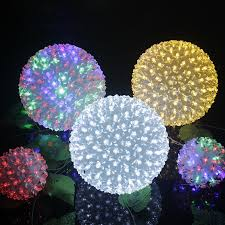 dia 20cm large flower led light globe cherry blossom tree