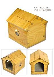 Cardboard Cat Scratcher House Wood Grain Cat Cardboard House With Scratching Mat Cardboard Cat