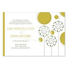 reception card yellow green reception card templates do it