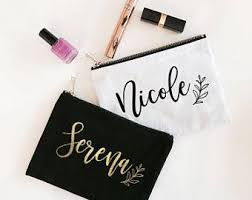bridesmaid gifts bridal party gifts custom makeup bags