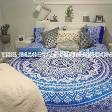 Duvet And Pillow Covers Classic Blue Medallion Ombre Mandala Duvet Cover Set Of 2 Pillow Cover
