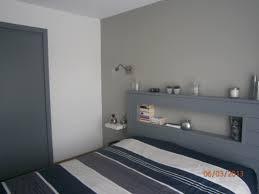chambre parentale grise chambre blanche et grise