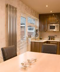 stainless steel radiators elevato vertical brushed chrome