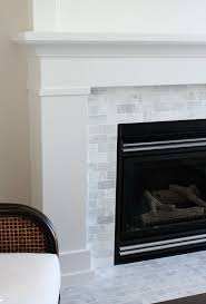 Porcelain Tile Fireplace Ideas by 25 Best Marble Subway Tiles Ideas On Pinterest Grey Shower