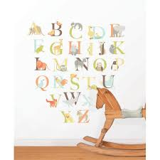 Nursery Rhyme Wall Decals Alphabet Zoo Kit Wall Decals Wallpops For Baby Peel And Stick