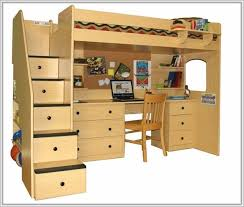 Kids Bunk Beds With Desk And Stairs Kids Bunk Beds With Stairs And Trundle Home Design Ideas