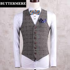 designer weste buttermere brand clothing plaid suit vest mens tweed wedding