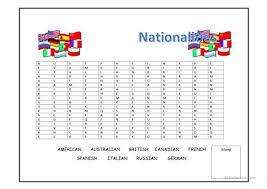 word search nationalities printable nationalities wordsearch worksheet free esl printable worksheets