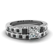 black engagement ring set stunning black wedding ring sets fascinating diamonds