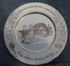 anniversary plate stunning limited edition sydney harbour bridge 50th anniversary