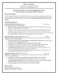 Sample Resume Format Medical Representative by Doc 12751650 Objective Sales Resume Outside Exa Splixioo