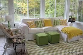 ektorp sofa sectional my sunroom in the fall sunroom ektorp sofa and ottomans