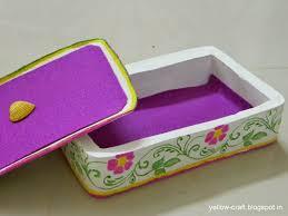 plaster of paris jewelry box tutorial yellow craft