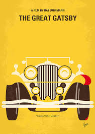 the great gatsby no206 my the great gatsby minimal movie poster art print by