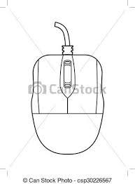 computer mouse outline illustration computer mouse clip art