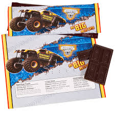 grave digger monster truck party supplies monster jam 3d large candy bar wrappers birthdayexpress com