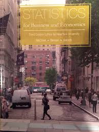 statistics for business and economics third custom edition for new