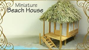 miniature beach house dollhouse tutorial youtube