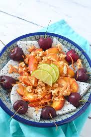 Summer Lunch Menu Ideas For Entertaining Fresh Fruit Bowl Lunch W Peanut Butter Granola Luci U0027s Morsels