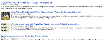 What Font To Use On Resume Why You Should Use Times New Roman On Résumés