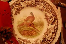 thanksgiving tablescape table setting with a woodland wildlife theme