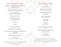 wedding program templates free online wedding programs carbon materialwitness co