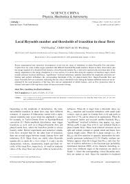 local reynolds number and thresholds of transition in shear flows