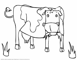 cow coloring pages wecoloringpage picture of a dairy animal