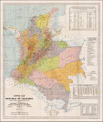 Map Of Colombia Coffee Map Of The Republic Of Columbia World U0027s Largest Producer Of