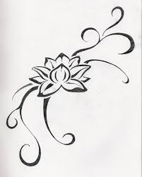 small lotus flower drawing clipartxtras