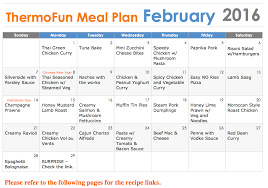 weekly family meal planner template thermomix meal plans with thermofun 2016febplanner