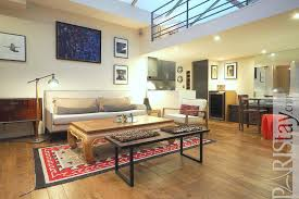 Loft Living Room by Paris Luxury Apartment For Rent Loft Trocadero