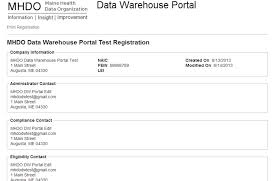 data warehouse portal