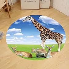 Giraffe Floor L Gzhihine Custom Floor Mat Giraffe Antelope And