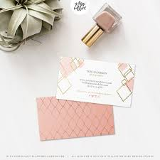 business card template blush and gold moo template gold foil