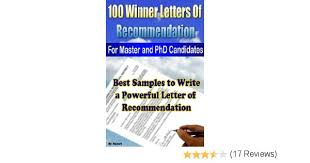 amazon com 100 winner letters of recommendation for master and