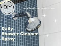 make your own daily shower cleaner spray hometalk