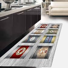 tappeto disegno tappeto passatoia cucina kitch ecologico in microciniglia con