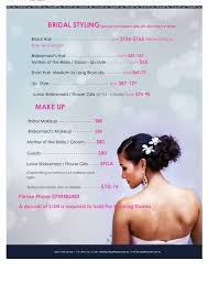 make up prices for wedding price list for wedding hair makeup figure hair salon