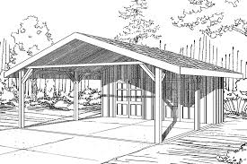 traditional house plans carport 20 094 associated designs carport plan 20 094 front elevation