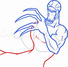 draw carnage spiderman step step marvel