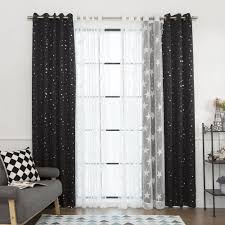 aurora home mix and match curtains blackout tulle lace sheer 84