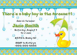 duck baby shower invitations baby shower duck theme invitation wording boy invitations themes