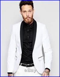 new men tuxedo suit jacket trouser club party wear slim fit