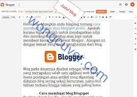 blogger atau blogspot cara buat blogger atau blogspot gratis wong cuver