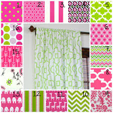 Pink Girls Bedroom Curtains Curtains Fill Your Home With Pretty Chevron Curtains For